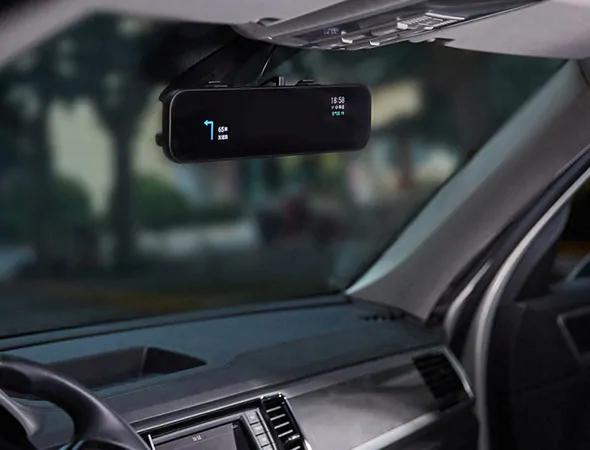 Wifi App Rear View Mirror with DUAL CAMERA HD DVR Dash Cam with Microphone