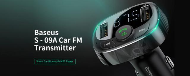 You Get Not Just an FM Transmitter Under $10, Baseus S-09A is Also an MP3 Player and Dual USB Charger!