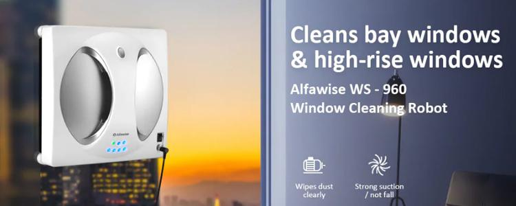 Clean Your Windows Faster with this Alfawise WS-960 Smart Robot Vacuum Window Cleaner Glass Cleaning Machine