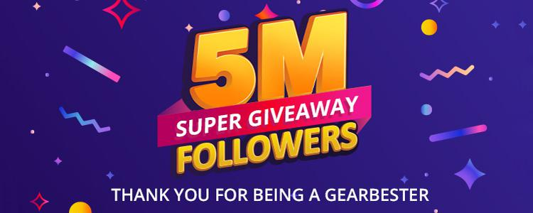 Crazy GIVEAWAY: 8 Prizes for Our 5 MILLION Facebook Followers!