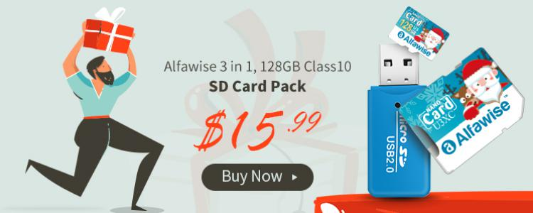 Gearbest Alfawise Christmas Fun Edition Micro SD TF Card 3 In 1 128GB High Speed ​​Memory Card Pack 128GB U3XC