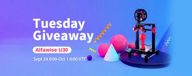 Now! You're Getting a Chance to Win an Alfawise 3D Printer For Free! Go! Go! Go!!!