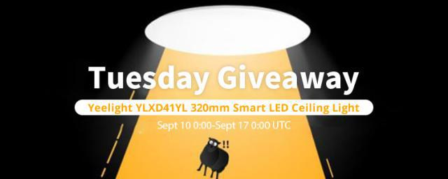 "[Winner Announced!]TUESDAY GIVEAWAY: CLICK ""LIKE"" & GET IT FREE! Get a Yeelight Smart LED Ceiling Light For Free"