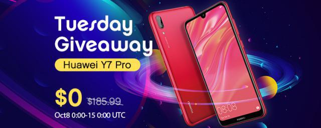 GET IT FREE! Get a $186 Huawei Y7 Pro Smartphone For Free!