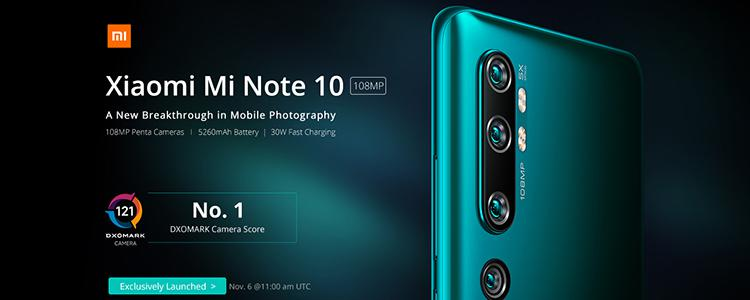 Ahead of Apple, Samsung, and Google Smartphones, Xiaomi Mi Note 10 Takes the First Place in the World