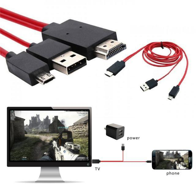 MHL Micro USB to HDMI 1080P HD TV Cable Adapter at $7.99 That Turns   Your Smartphone Screen Over 10 Times Larger