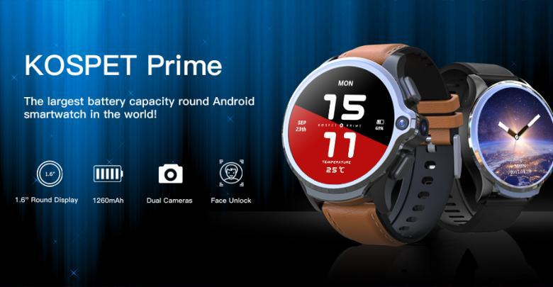 KOSPET Prime The Largest Battery Capacity Round Android Smartwatches In The World!