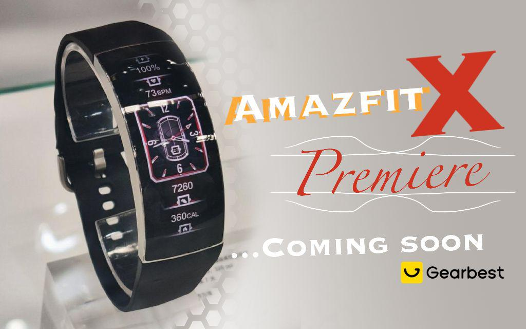 New and Amazing. Amazfit X Coming Soon.