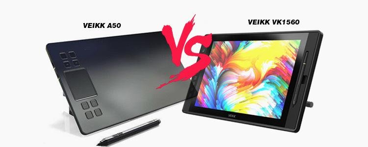 VEIKK A50 vs. VEIKK VK1560 – DIFFERENCES Between Graphics Pen Tablets and Pen Displays. What's a Pen Tablet and Pen Display?