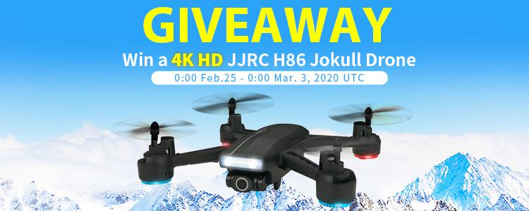 FREE Drone GIVEAWAY: Comment & Win a 4K JJRC H86 Jokull RC Drone For FREE!