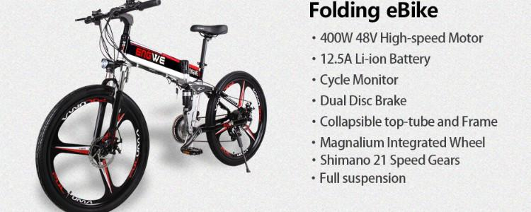 ENGWE Folding Full Suspension Electric Bike Review