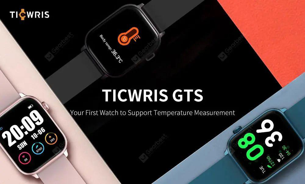 Ticwris GTS Smart Watch: Measuring Body Temperature in 10 Seconds.