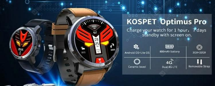 Kospet Optimus Pro Android Smartwatch Phone Feature Review