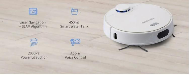 Alfawise V10 Max vacuum robot for $285: Budget model with LDS