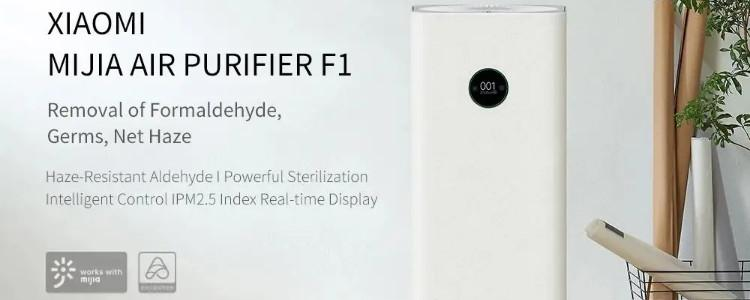 Xiaomi Mijia F1 Air Purifier Removal of Formaldehyde 400m³/h CARD 99.9% Sterilization Rate OLED Display Mijia APP Control