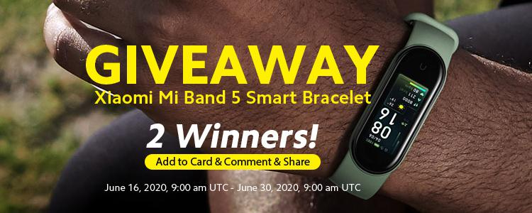 Xiaomi Mi Band 5 GIVEAWAY: Just Simple 3 Steps To Win The Most Powerful Smart Bracelet 2020!