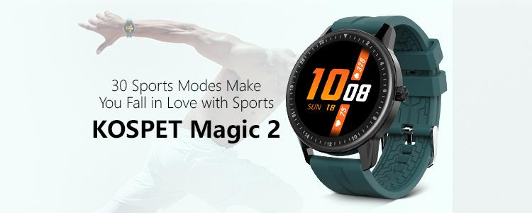 Only $24.99? The Kospet Magic 2 With 30 Sports Modes is a Must-Buy Smartwatch for Sports Enthusiasts in 2020.