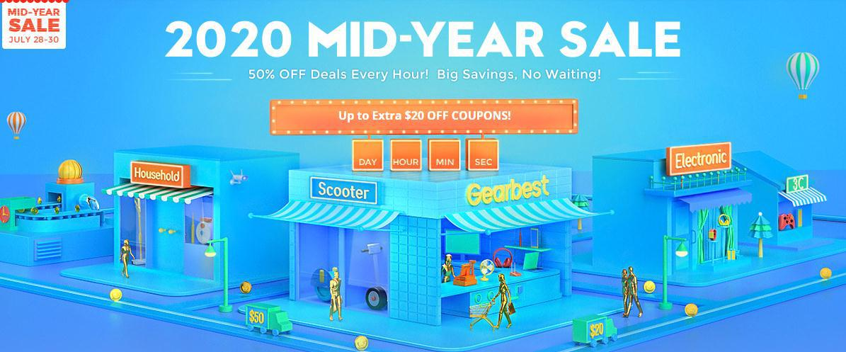 Gearbest Mid-Year Sale 2020 Will Start On July 20, and There are Many Discounts to Look Forward To!