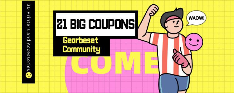 21 3D Printers and Accessories You Can Get With Big Coupons At Gearbest Community!